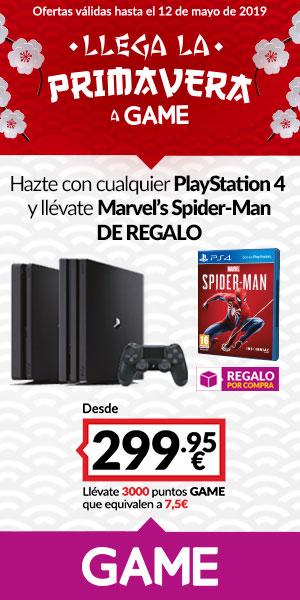 PlayStation 4 + Marvel's Spider-Man de regalo