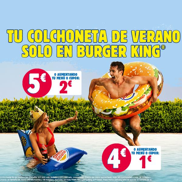 Tu colchoneta para el verano en Burger King