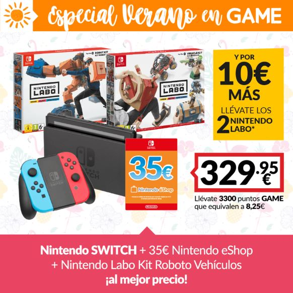Consigue tu Nintendo Switch con GAME