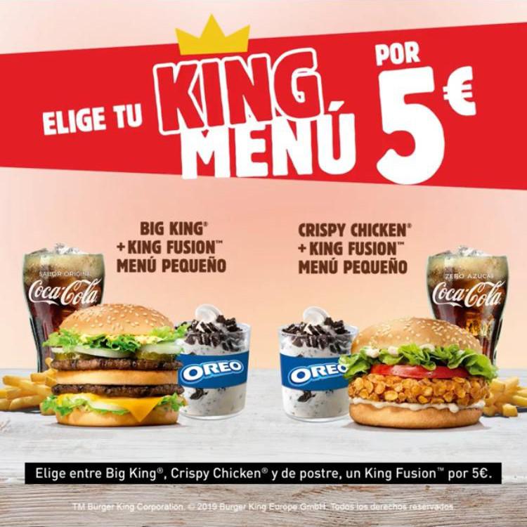 Disfruta de los menús King en Burger King