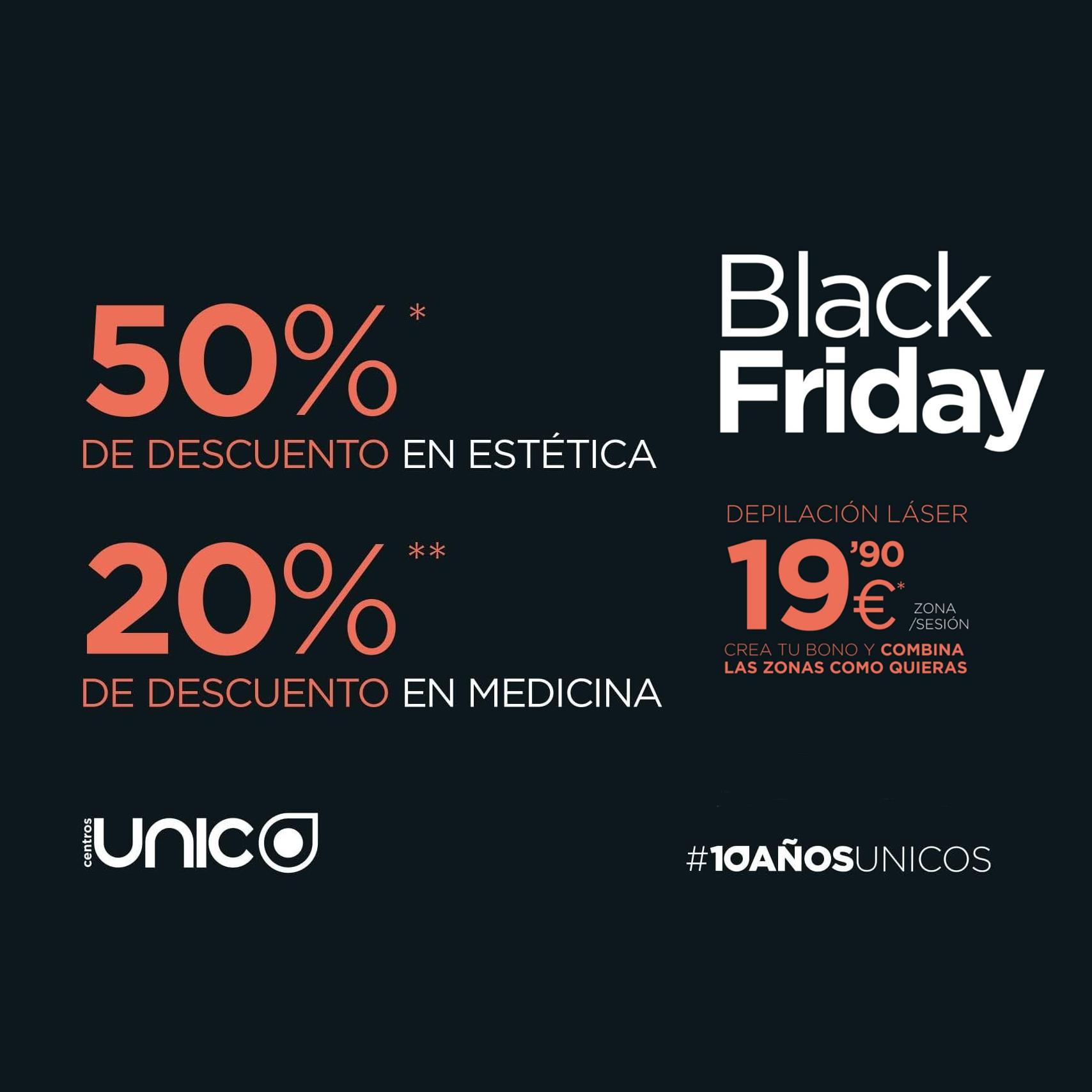 Aprovecha el Black Friday en Centros Único