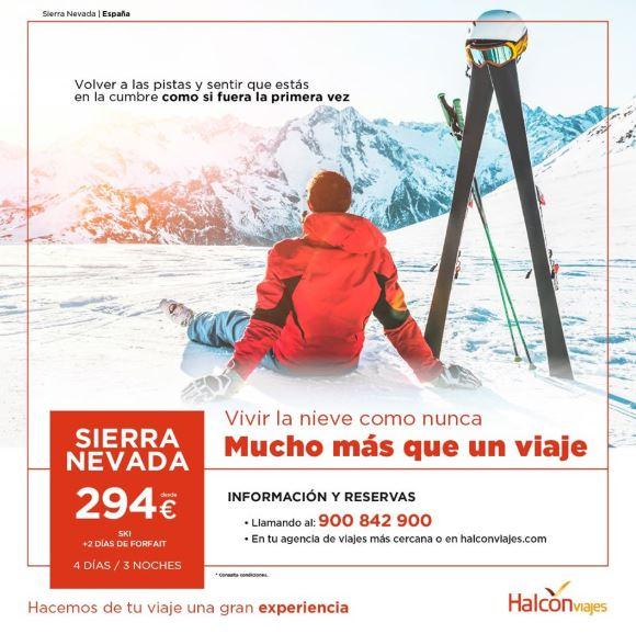 Vive la nieve con Halcón Viajes