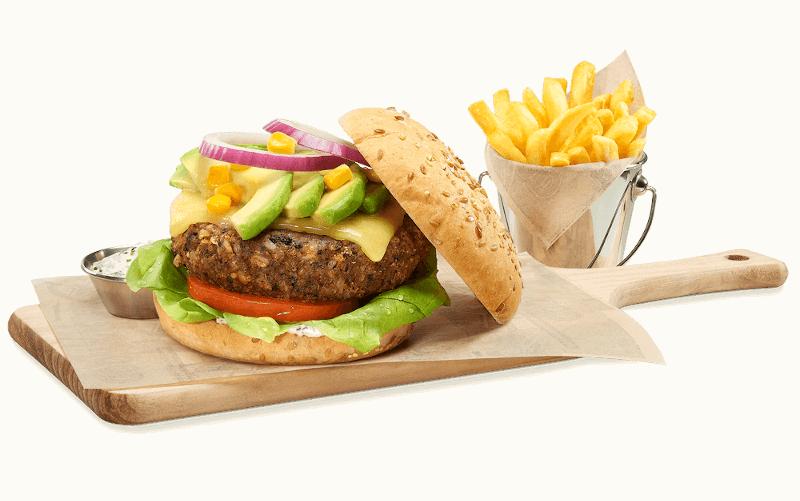 Veggie burger fosters