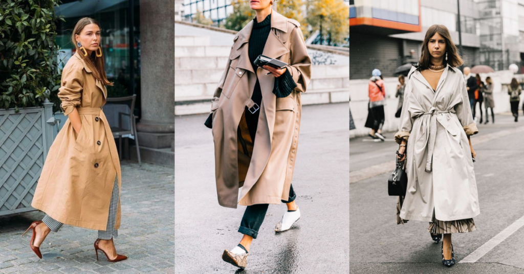 Tendencias trench oversize aluche